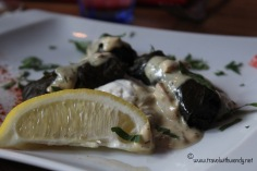 TWW - Restaurant Eleni - grape leaves
