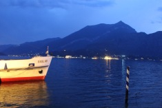 Bellagio - Harbor at night