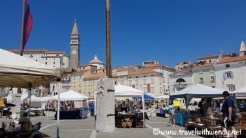 Flea market Day in Piran