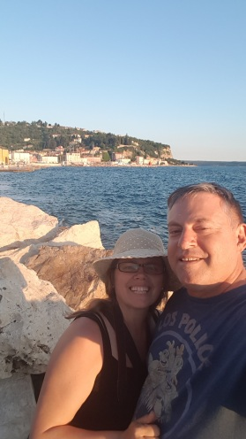 Having fun at the beach - Piran