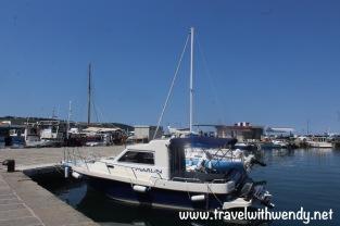 Izola harbor views with boats