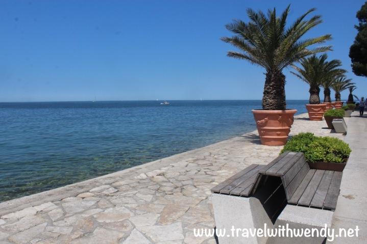 Izola promenade and beach strip