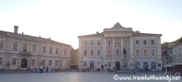 Main square Tartini Square Piran