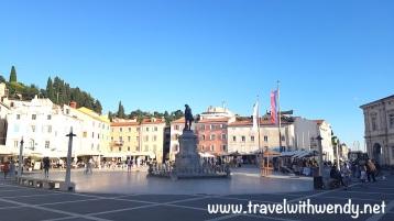 Daytime views of Tartini square