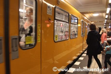 Berlin - taking the train