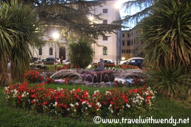 Perugian Gardens at Night
